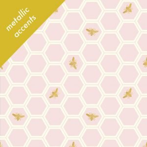 Mod Nouveau- Honey Comb- Blush CANVAS- Jay-Cyn- Birch Fabrics- Organic Cotton