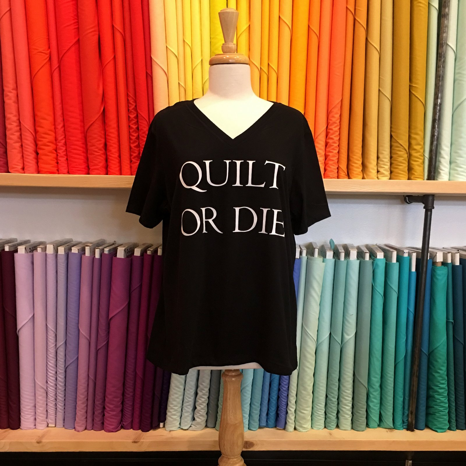 Quilt or Die T-Shirt- Size Large