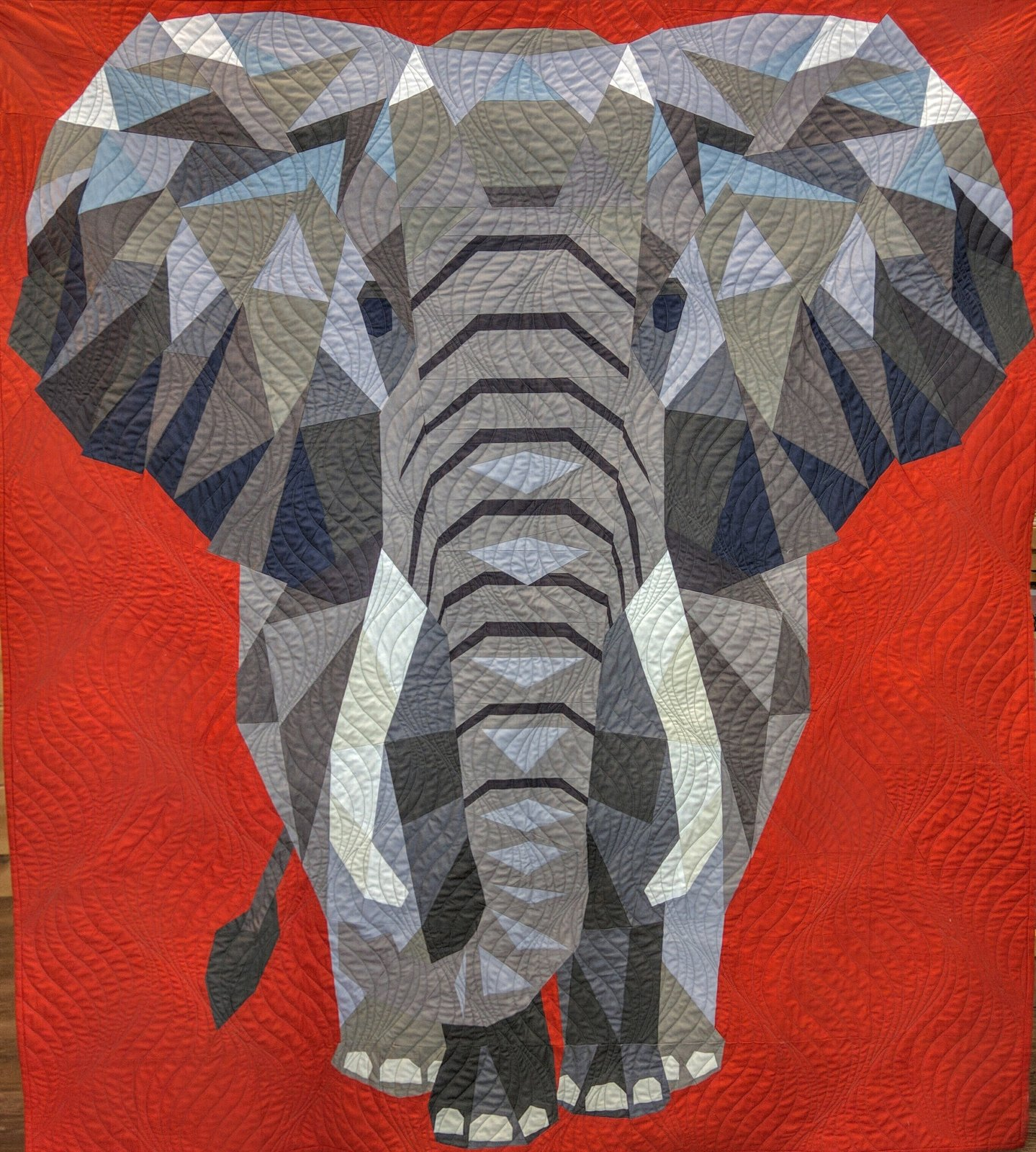 Elephant Abstractions Quilt Kit - Finished size 54 x 60