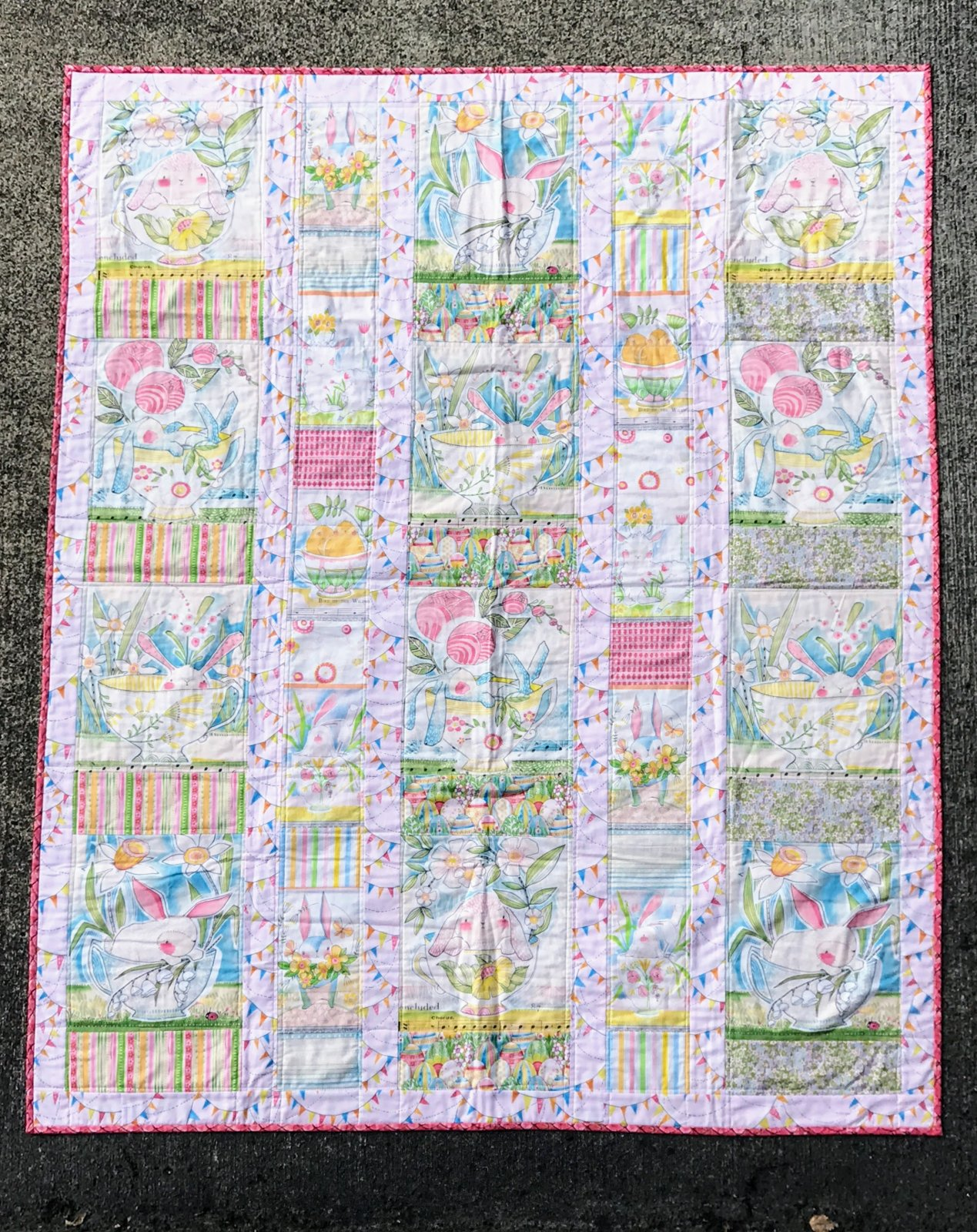 Menagerie Quilt with Promise of Spring by Cori Dantini - Pink - Including Binding