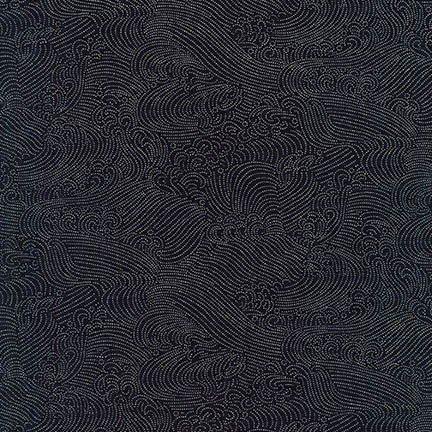 Nara Homespun- Waves- Indigo- Robert Kaufman