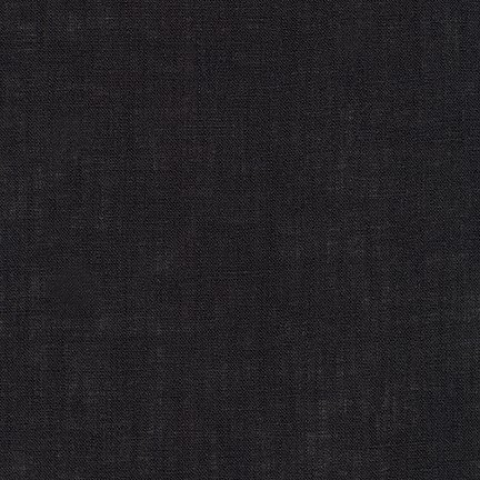 1 3/8 YARDS- Limerick Linen - Black - Robert Kaufman