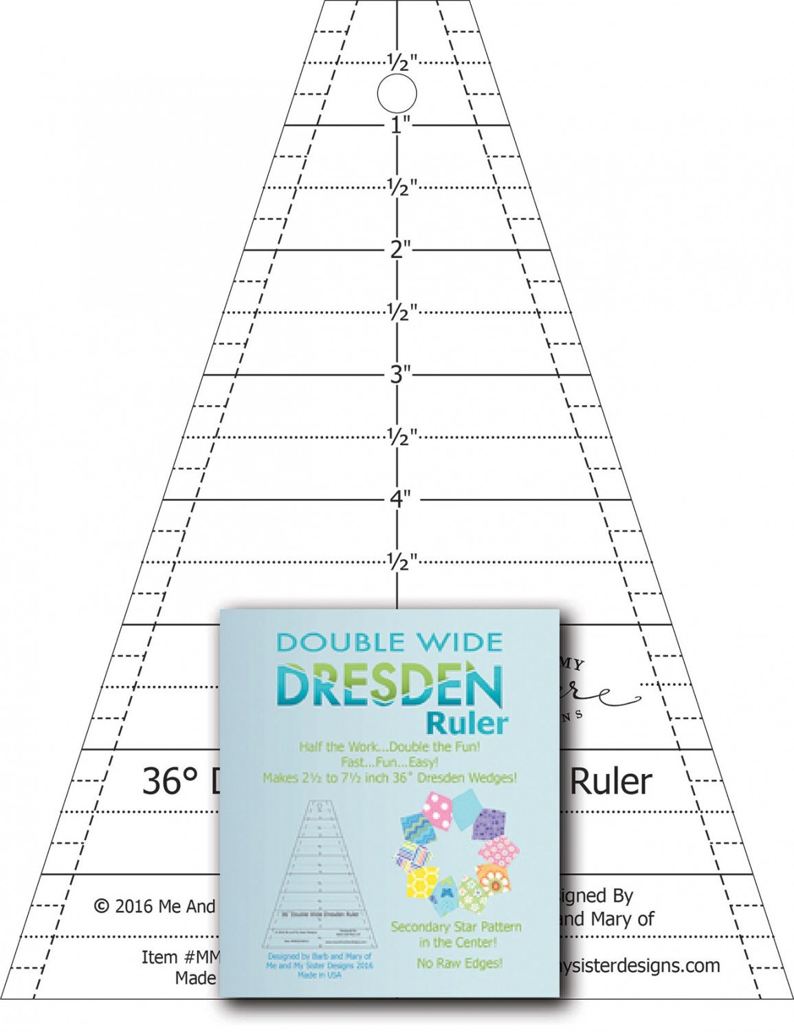 Double Wide Dresden Ruler- Me and My Sister Designs