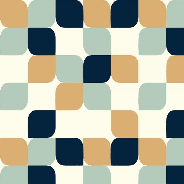 Mod Nouveau- Geo Tear Drop CANVAS- Jay-Cyn- Birch Fabrics- Organic Cotton