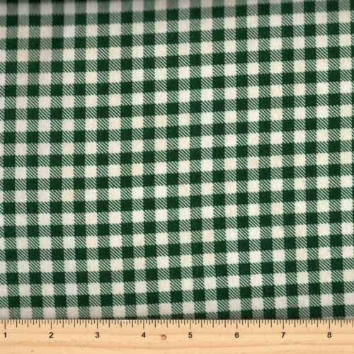 2 YARDS- Mountain Lodge Flannel- Checker Plaid- Green/Cream