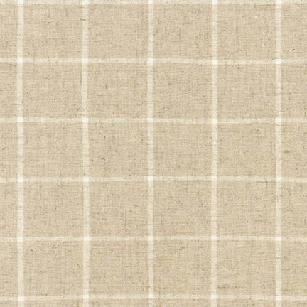 Essex Yarn Dyed Classic Wovens- Windowpane- Natural- Robert Kaufman