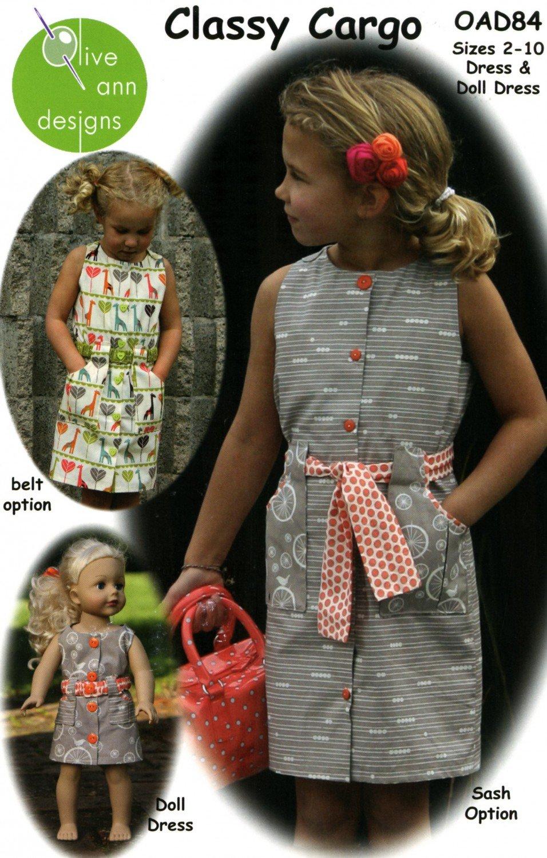 Classy Cargo Dress Pattern- Olive Ann Designs