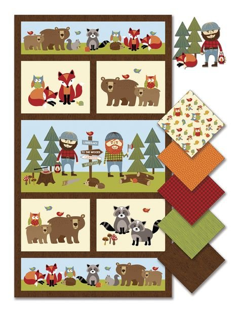Lumberjack Flannel- Northcott- Panel (2/3 yard)