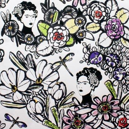 Cactus Flower- Natural- Folklorico- Alexander Henry