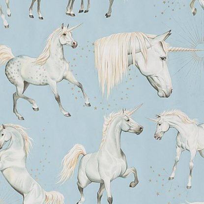 1/2 YARD- Stars of the Unicorn- Sky- Alexander Henry