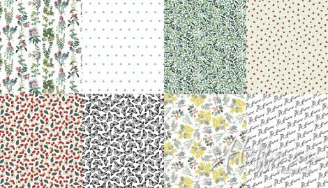 No Weeds Here- Digital Print Fat Quarter Panels (2Yards)- White- Hoffman
