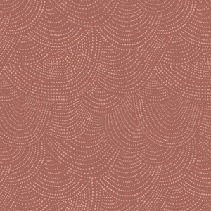 3/8 YARD- Scallop Dot- Guava - Rae Ritchie - Dear Stella