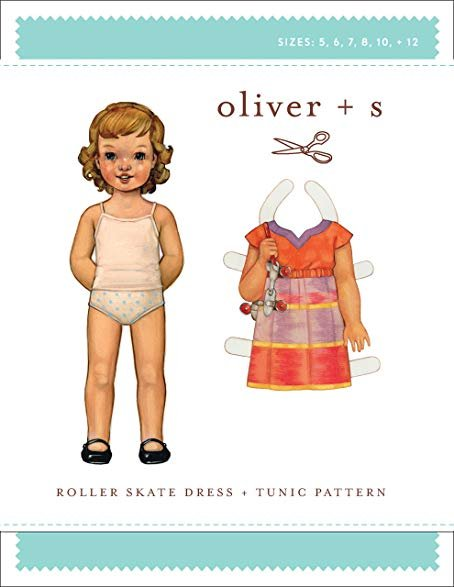Oliver + S -  Roller Skate Dress + Tunic Pattern - Size 6M-4T
