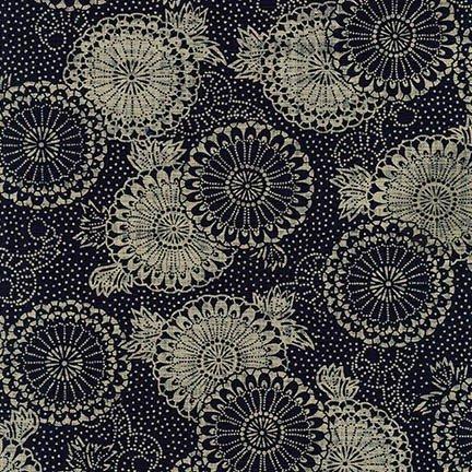 Nara Homespun- Circles- Indigo- Robert Kaufman