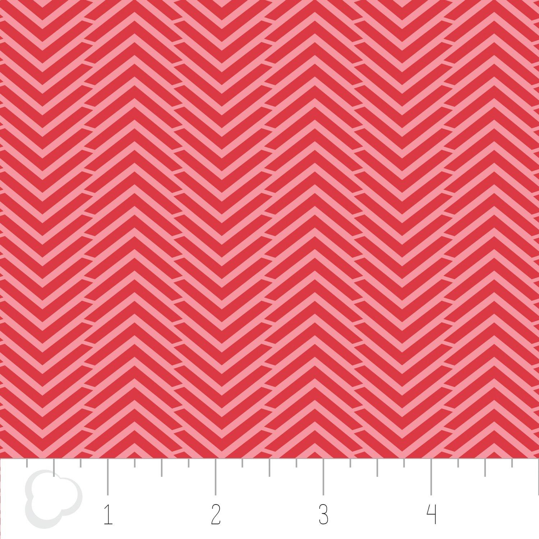 Mixology - Herringbone - Ruby - Camelot Fabrics