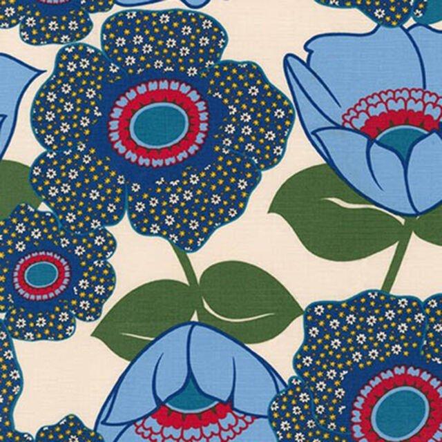 Auntie's Attic Canvas- Robert Kaufman- Large Floral- Natural