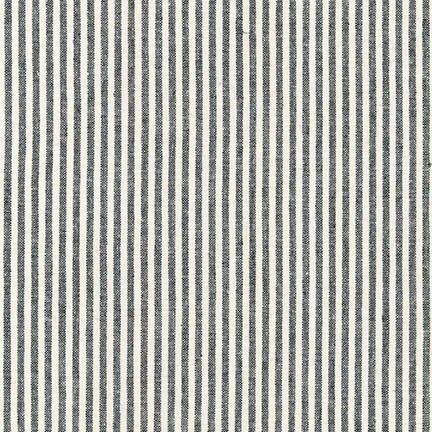 Essex Yarn Dyed Classic Wovens- Small Stripes- Black- Robert Kaufman