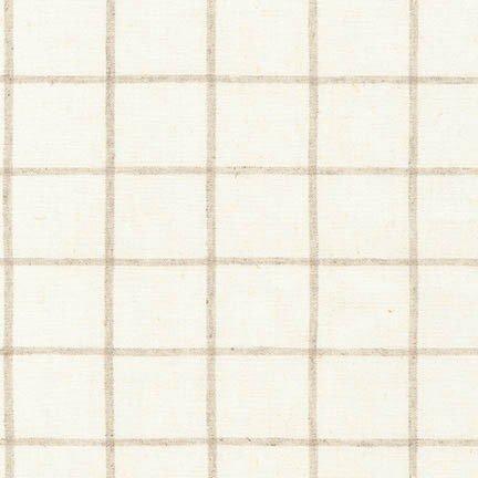 Essex Yarn Dyed Classic Wovens- Windowpane- Tan- Robert Kaufman