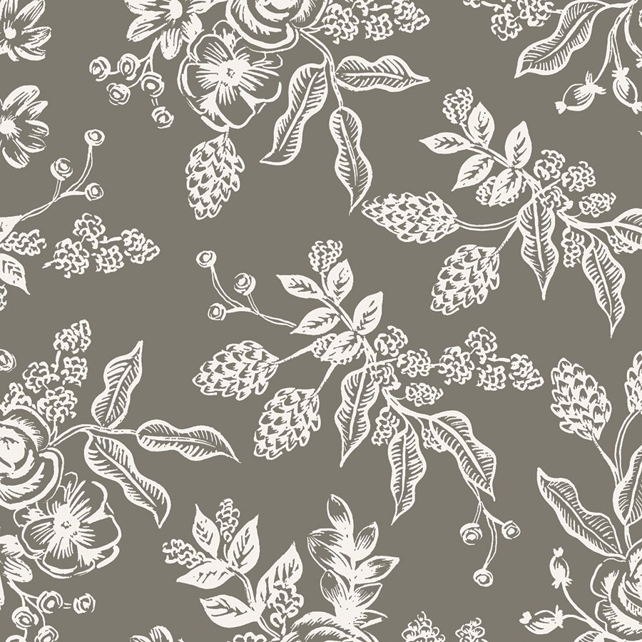 English Garden- Toile- Gray- Rifle Paper Co- Cotton + Steel