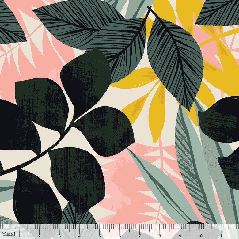 Leilani- Tropical Fronds- Ivory- Maude Asbury- Blend Fabrics