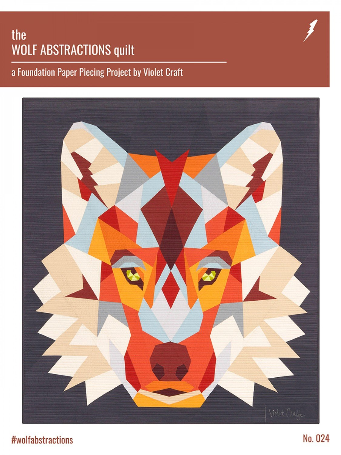 Wolf Abstractions Quilt Pattern- Violet Craft