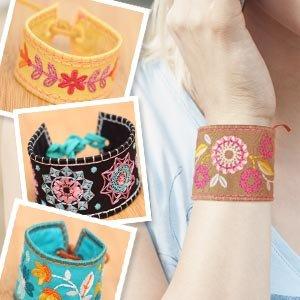 In The Hoop Floral Bracelets