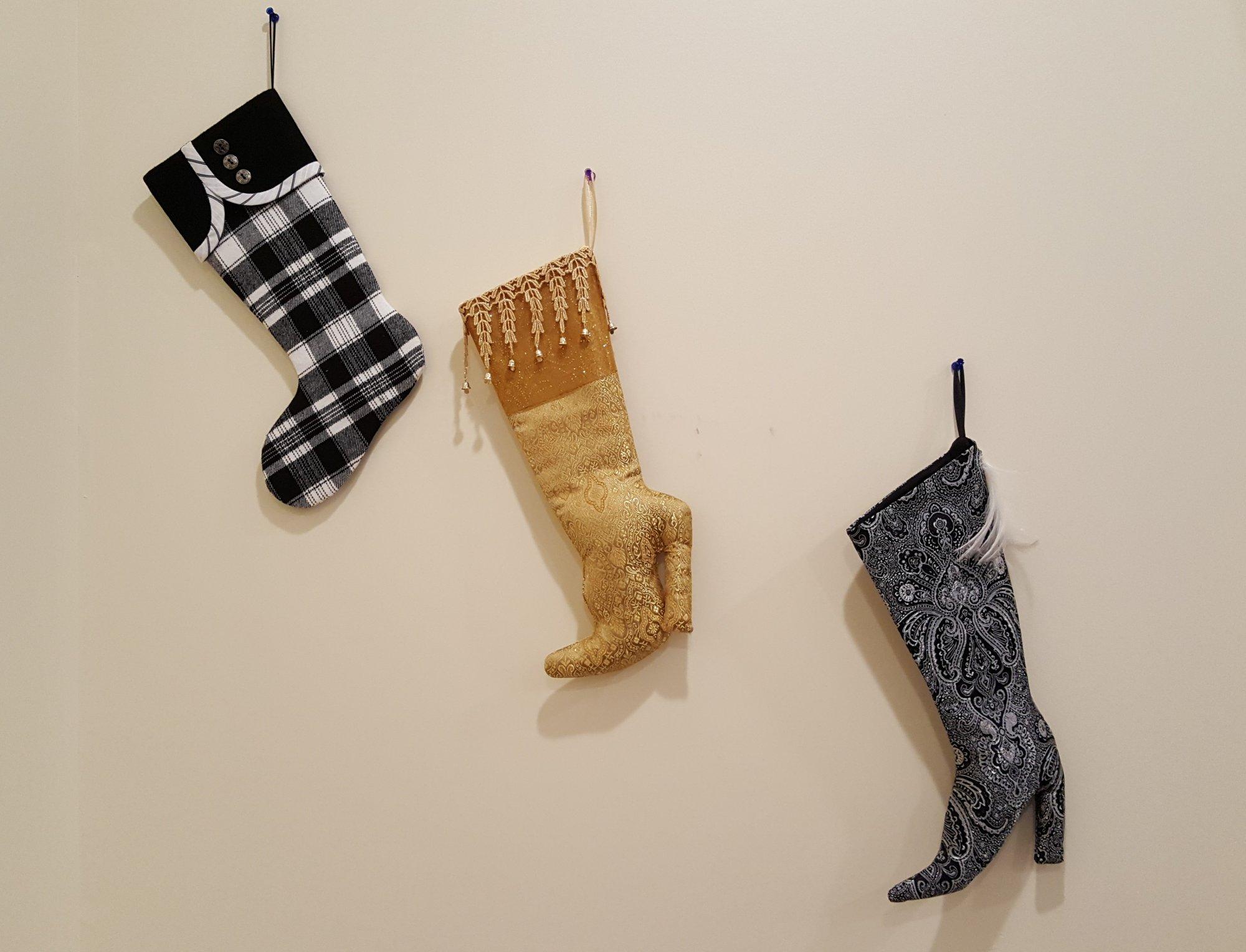 sewing 201 not your grandmas christmas stockings - Elegant Christmas Stockings