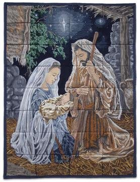 OESD O Holy Night Tiling Scene by Dona Gelsinger