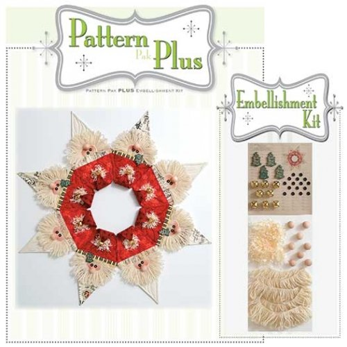 Jingle Bell Wreath Pattern Pak Plus Embellishment Kit