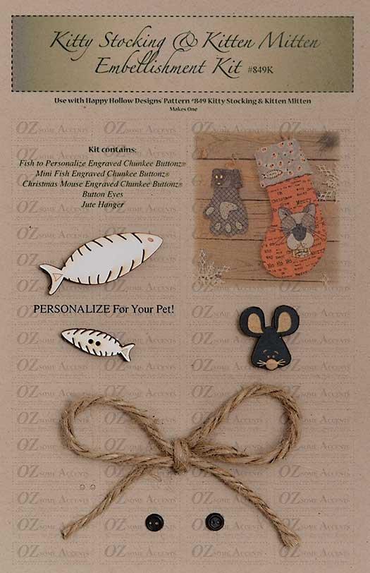Kitty Stocking & Kitten Mitten Embellishment Kit