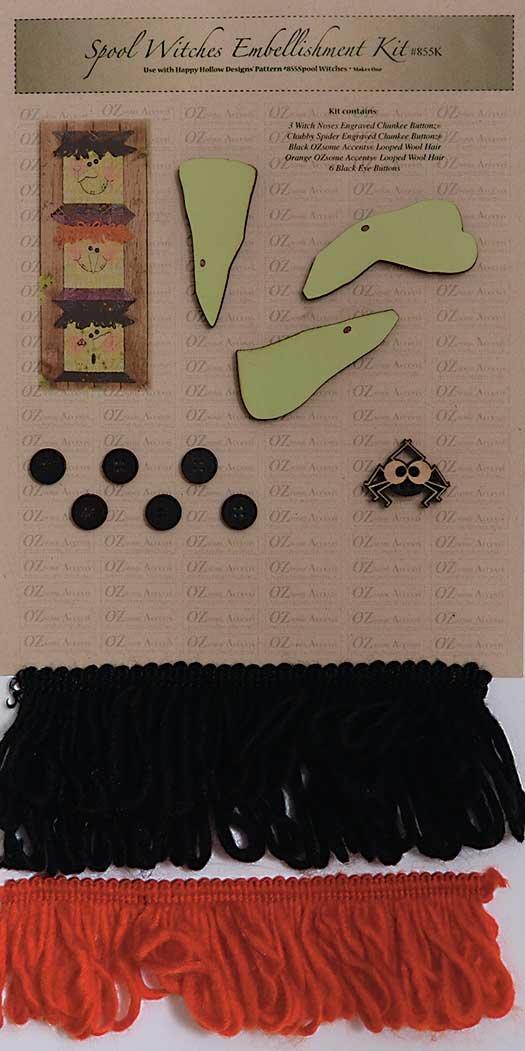 Spool Witches Embellishment Kit