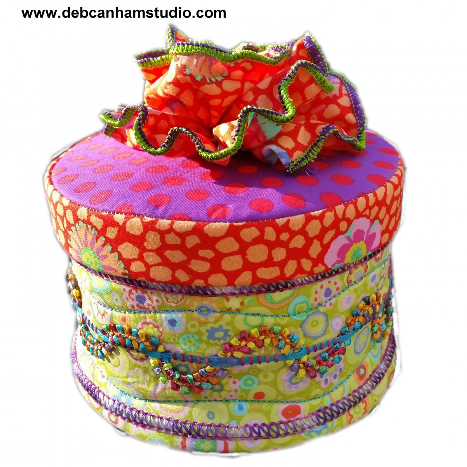 Pattern - Deb Canham Studio Decorative Circular Fabric Box