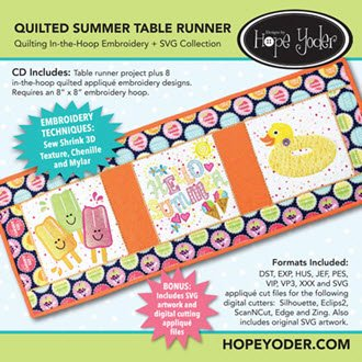 Quilted Summer Table Runner