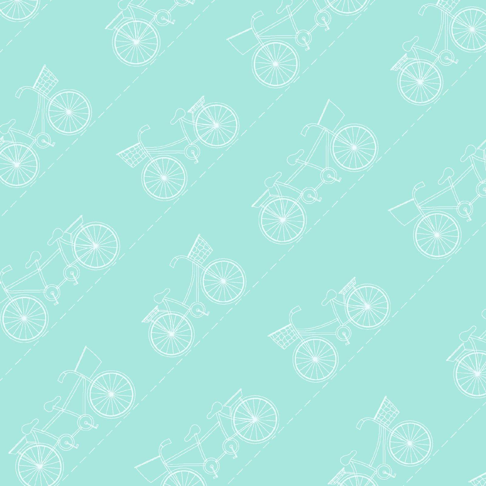 Teal Diagonal Bikes