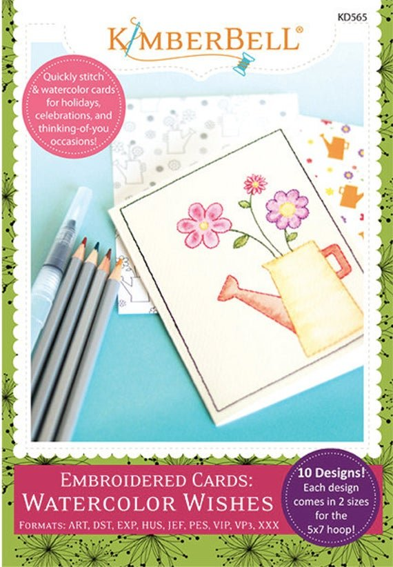 Water Color Wishes Cards Embriodery CD