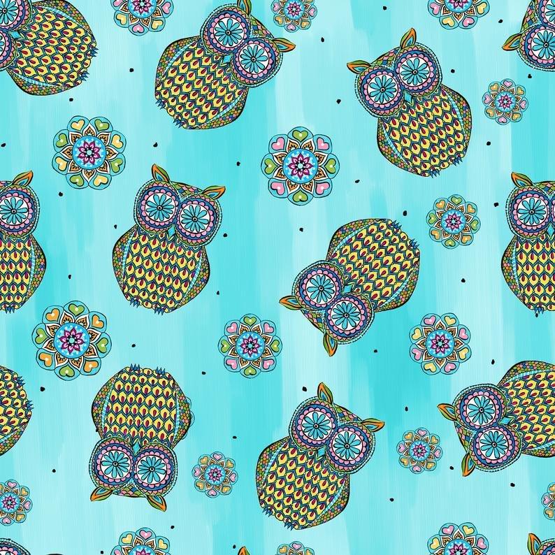 Mandala Tango Owl Blue