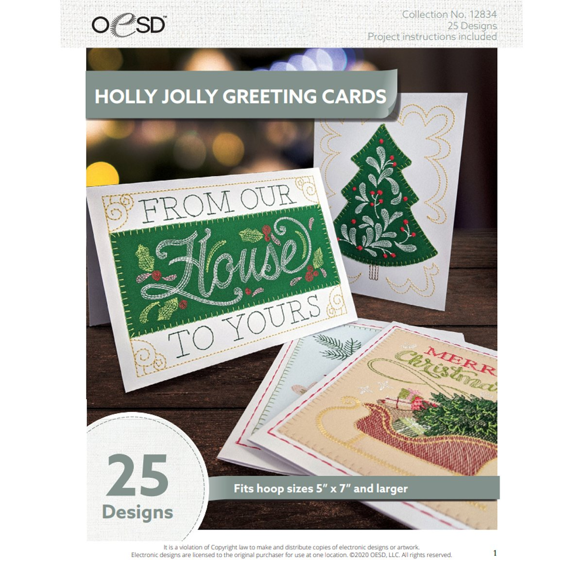 Cards Holly Jolly OESD Design