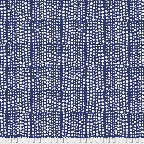 Backing Fabric -Dots - Indigo