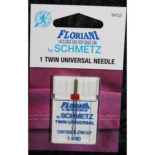 3.0/90 Twin Universal Floriani Chrome Schmetz Needles