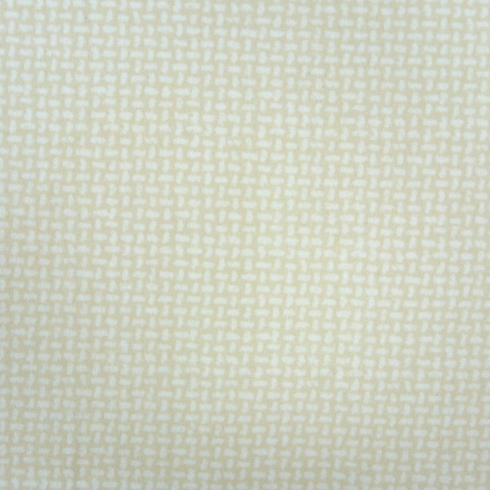 Basket Weave Flannel cream