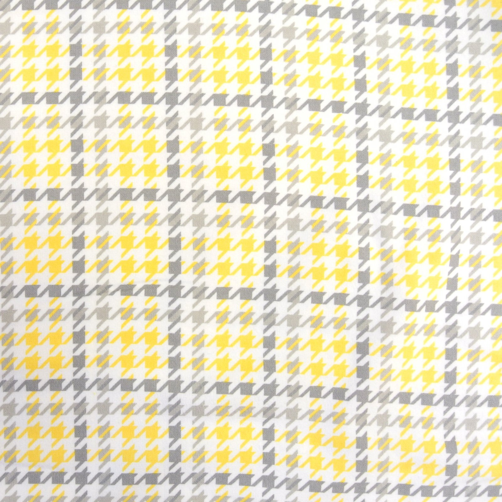 Cozy Cotton Houndstooth Flannel yellow