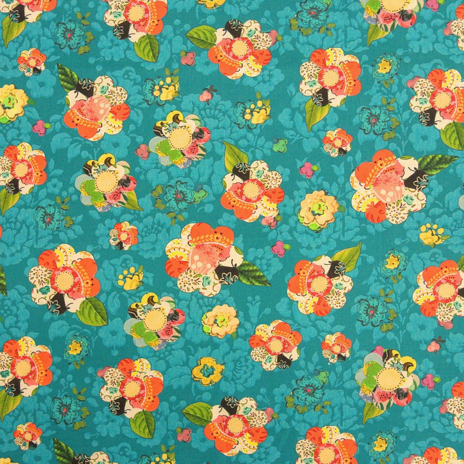 Collage Flower dk teal Soul Shine & Daydreams