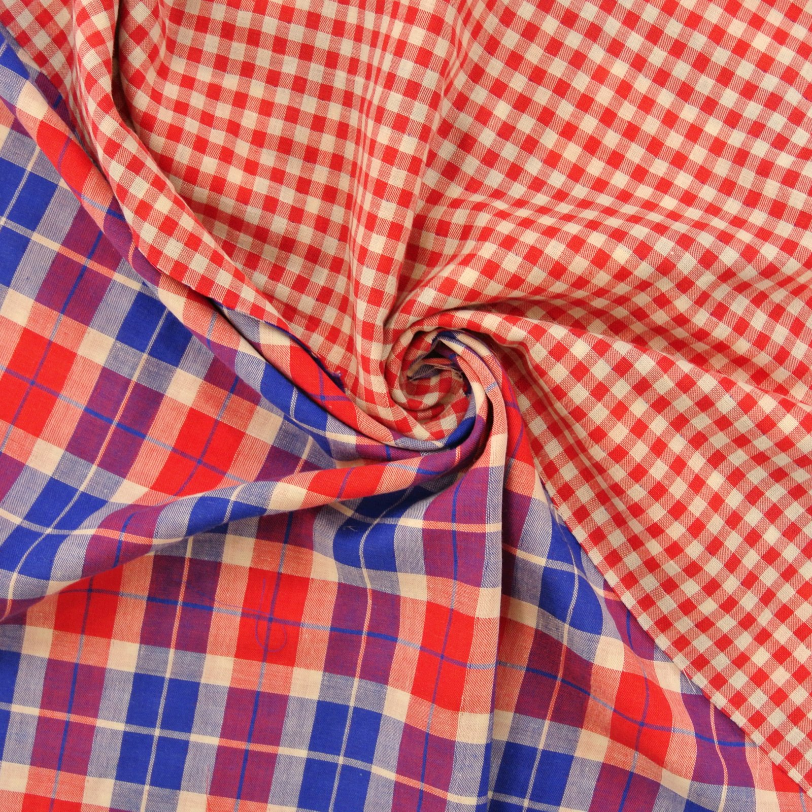 Country Girl Double gauze red blue