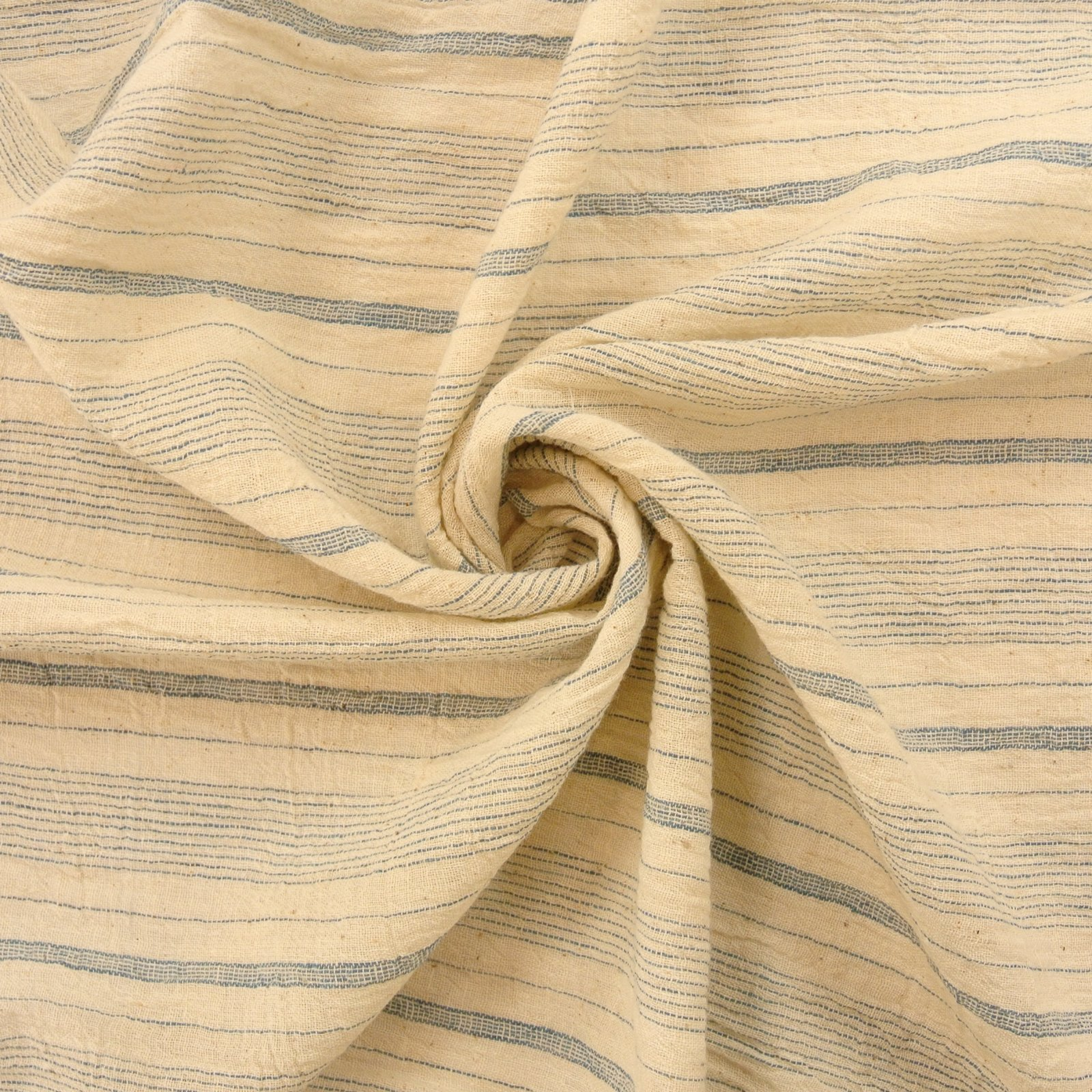 Runway Stripes Organic chambray hand loomed