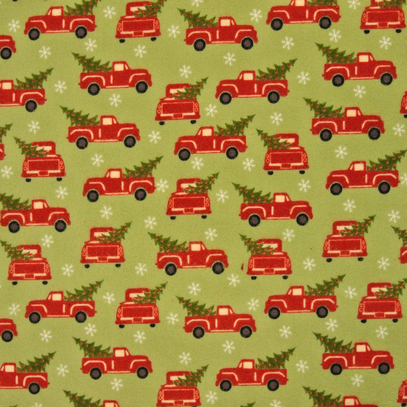 Red Truck Holiday green flannel