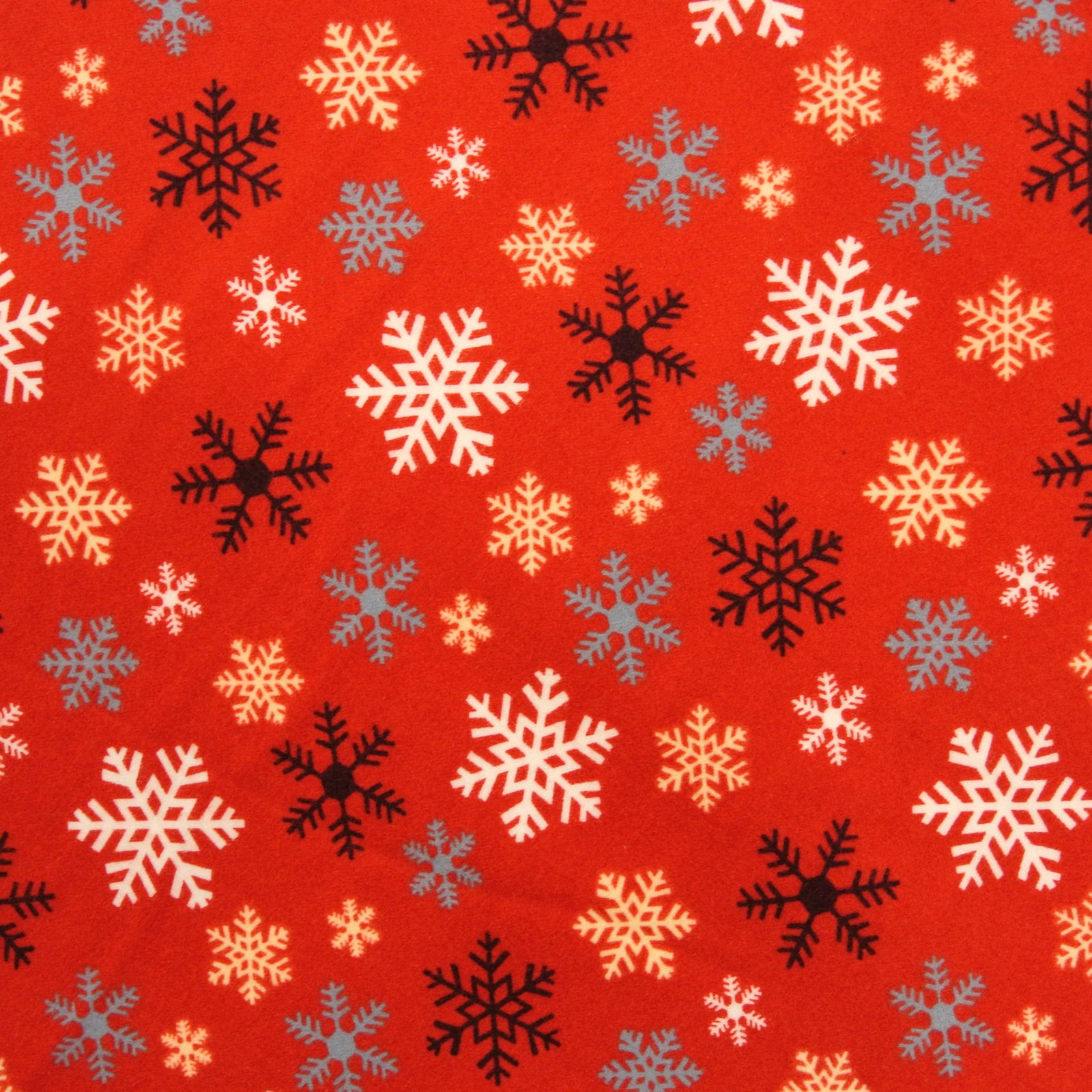 Crossroads Snow Flake red flannel