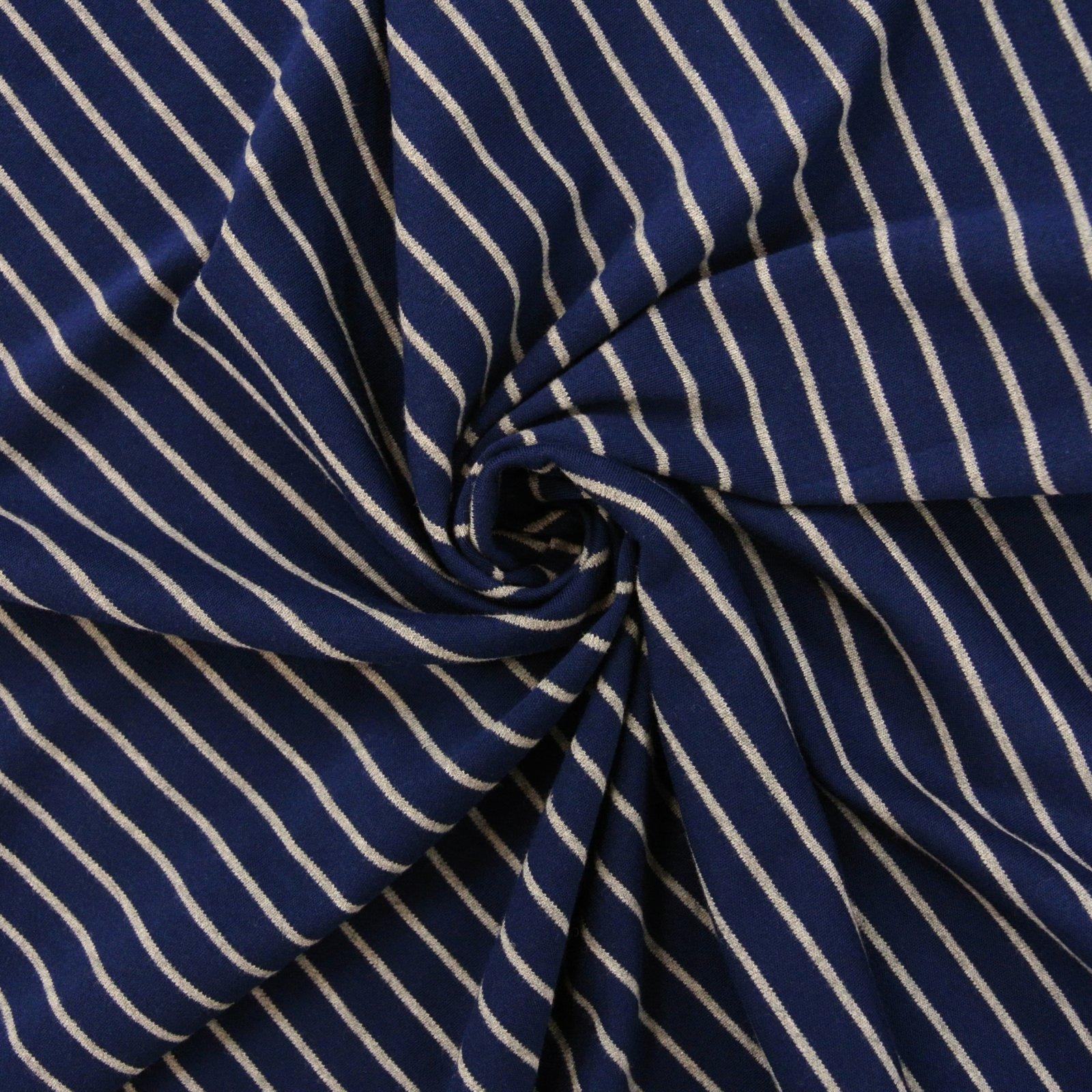 Striped Knit Organic blue grey