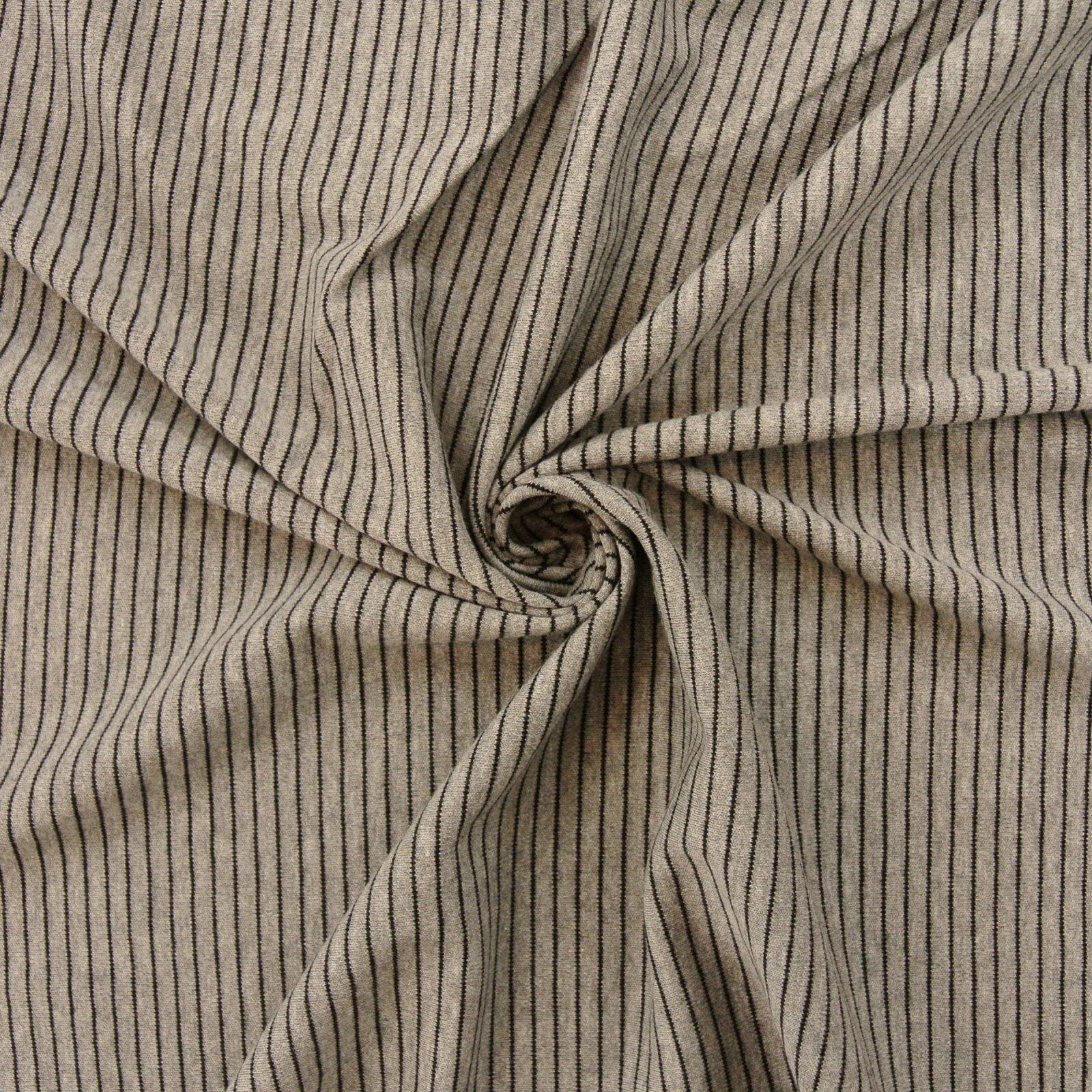 Striped Knit Organic grey black