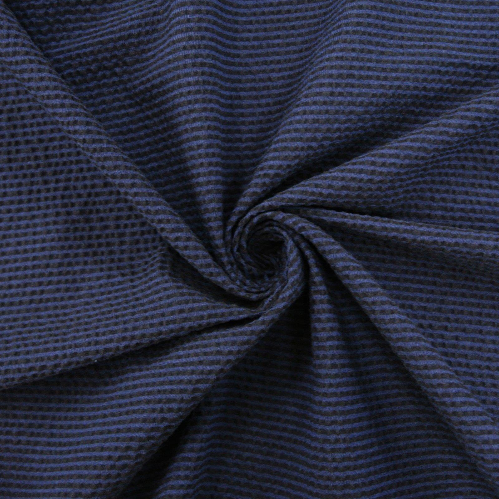 Seersucker Stripe navy black