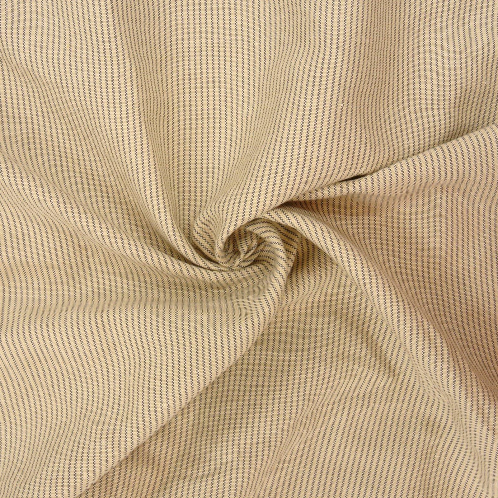 Linen Rayon Vertical Stripe Oxford parchment gray